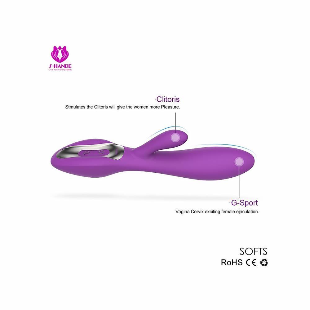 Estimulador de Ponto G e Clitóris Recarregável- Softs - S-Hande