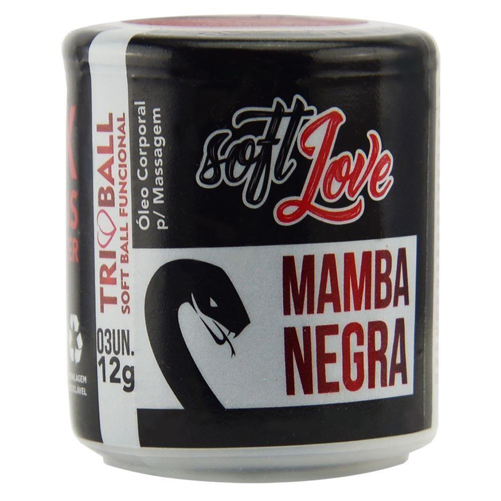 Bolinhas Tri Ball  Mamba Negra 12g 03 Unidades Soft Love