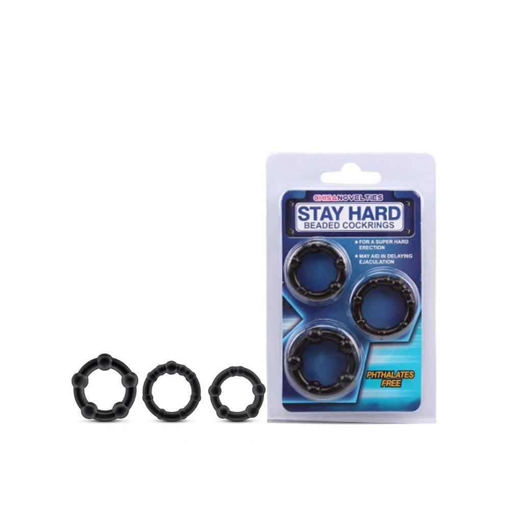 Kit com 3 Anéis Penianos e Nódulos Massageadores – STAY HARD