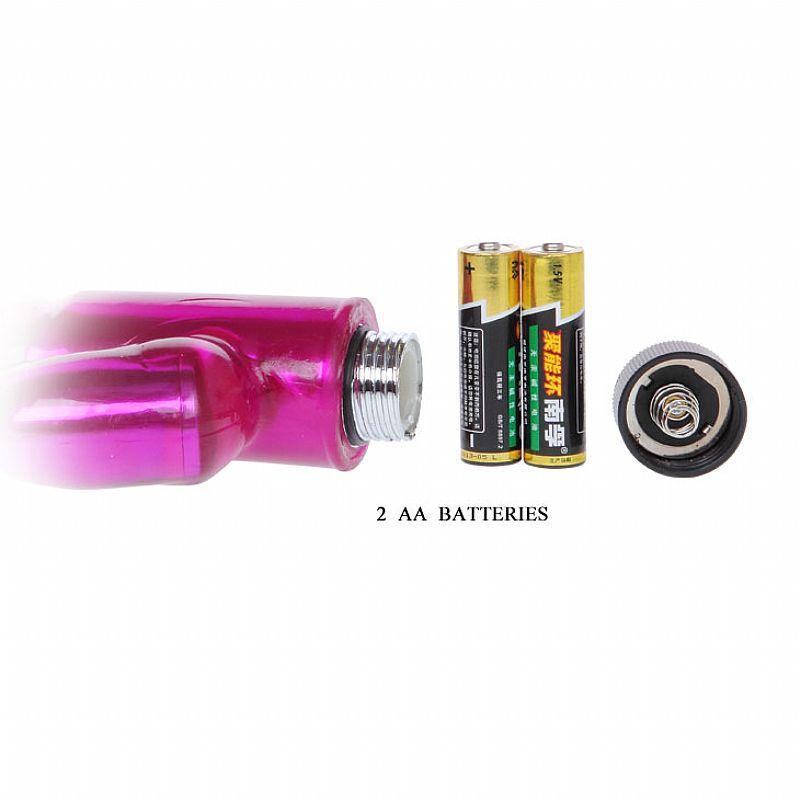 Vibrador em Jelly Naughty Bunny Duplo Motor - Ultra Potente - 18 cm